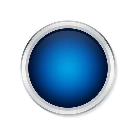 metallic border: Blue round button with metallic border