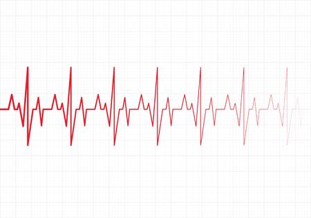 infatuation: Heart beats cardiogram