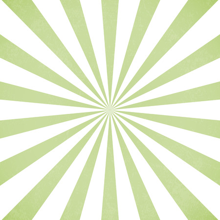 dazzling: Green pastel sun rays, Old paper with stains - Vector