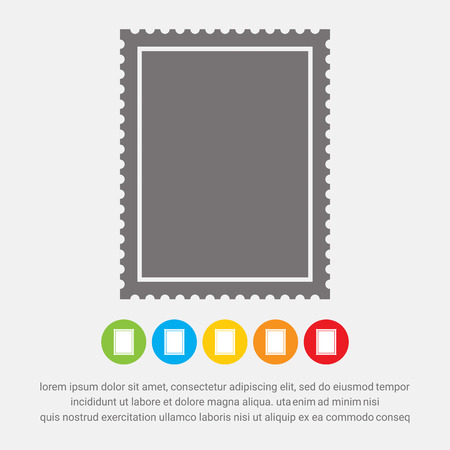 Postage stamp icon - Vector