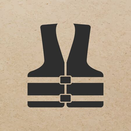 Rettungsweste Symbol - Vector