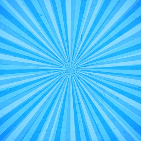 Blue sun rays background with stains. Vector illustration.