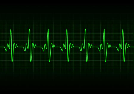 Heart beats cardiogram background Illustration