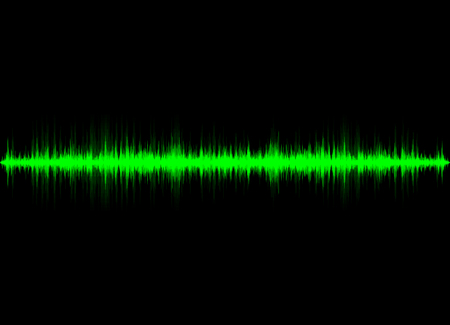 Sound waves oscillating glow light, Abstract technology background