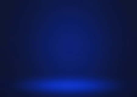 Empty blue studio room, used as background for display your products Standard-Bild - 104301784