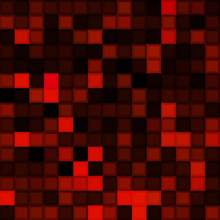 Red mosaic background. Vector illustration eps 10. Ilustração