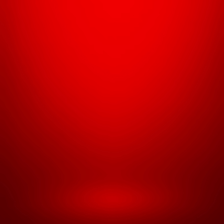 Empty red studio room, used as background for display your products