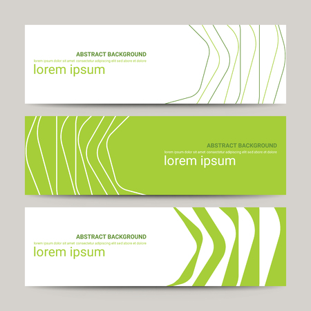 Set of modern design banners template with abstract line pattern background Ilustrace