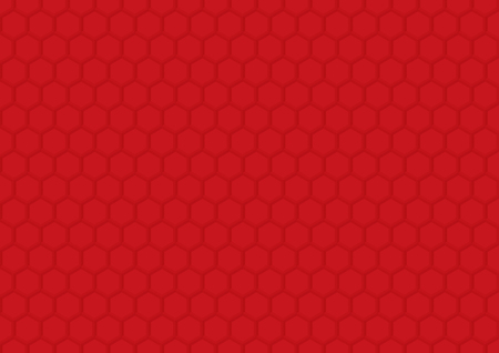 Abstract red hexagon background. Creative design templates Illustration