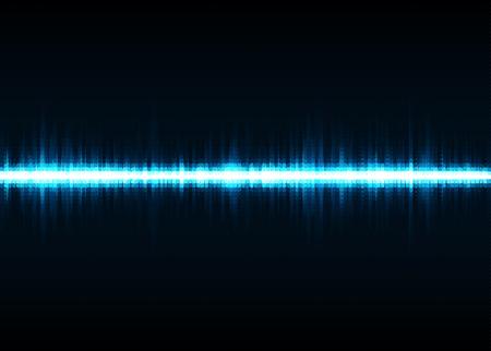 Sound wave vector background. Blue digital equalizer