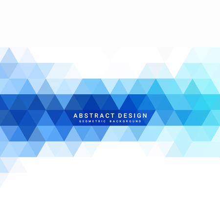 Abstract blue geometric background Ilustração