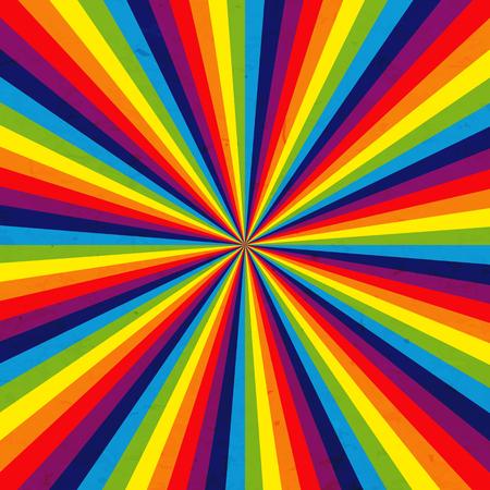 Rainbow color spectrum background Illustration