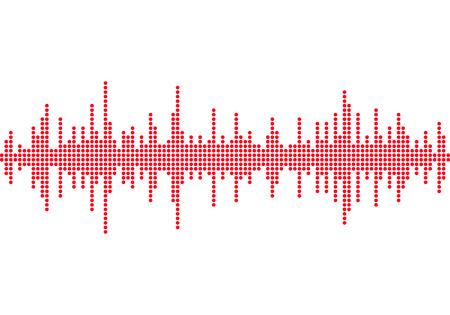 Sound waves background, Music round waveform