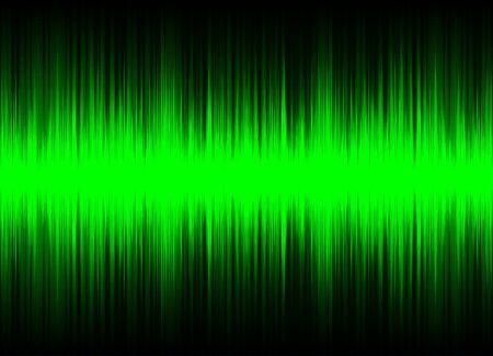 Green sound waves, Equalizer for music, audio waveform