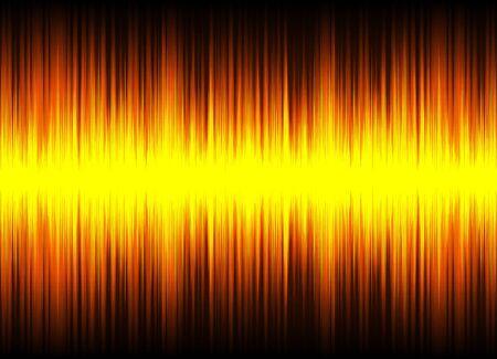 Orange sound waves, Equalizer for music, audio waveform