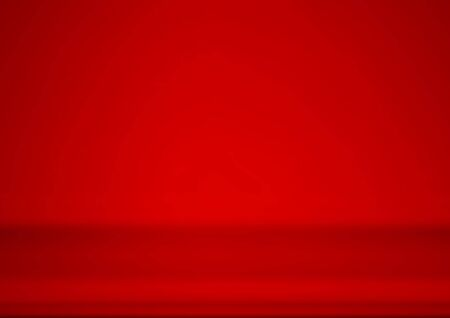 Empty red product showcase background