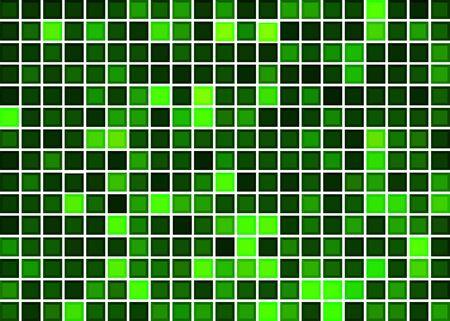 Green mosaic background 矢量图像