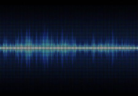 Blue sound waves, Equalizer for music, audio waveform