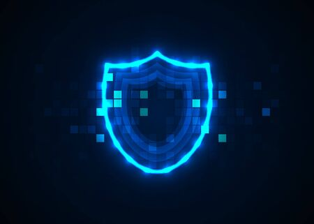 Abstract technology background. Internet technology cyber security concept 矢量图像