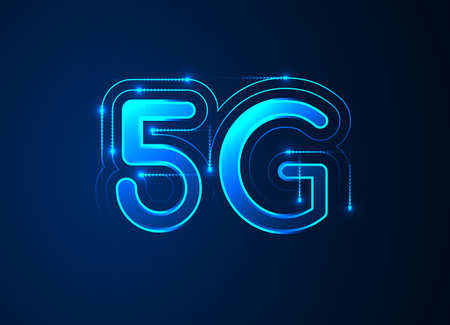 5G network wireless internet, High-speed mobile Internet,  connection. Hi-tech digital technology concept