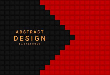 Red and black geometric background 矢量图像