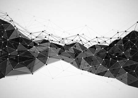 Abstract technology background. Polygonal with connecting dots and lines. Data and technology concept, network connection