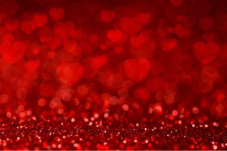Red background with heart shape. Valentines day background Standard-Bild - 163189690