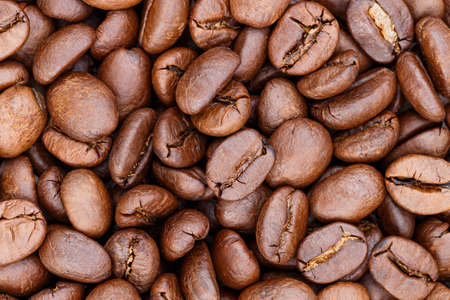 Roasted coffee beans for background Standard-Bild - 163189893