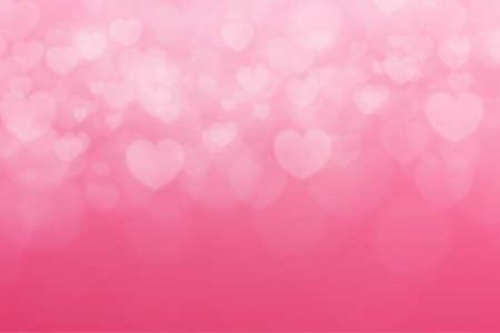 Pink background with heart shape. Valentine day background Standard-Bild - 163190301