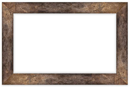 Wooden picture frame isolated on white background with clipping path Standard-Bild - 163190330
