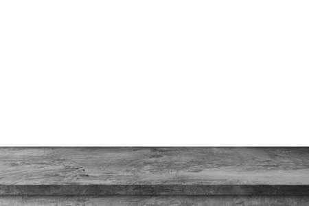 Empty stone table on white background