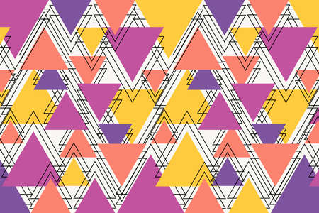 Abstract background colorful pastel color. triangle style Illustration