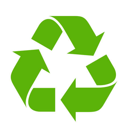 Recycle symbol on white background