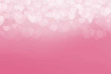 Pink background with heart shape. Valentines day background