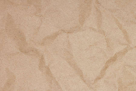 Recycle brown paper crumpled texture background Standard-Bild