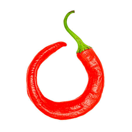 Chili pepper icon isolated on a white background