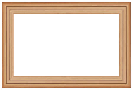 Wooden picture frame isolated on white background Standard-Bild