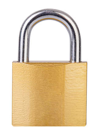 Lock isolated on white background Фото со стока