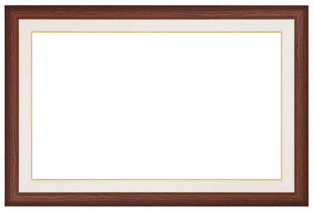 Wood frame isolated on white background Фото со стока