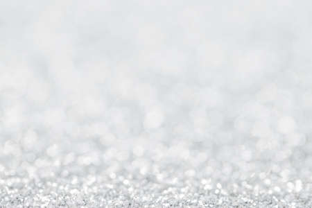 White bokeh abstract background. Christmas and New Year background