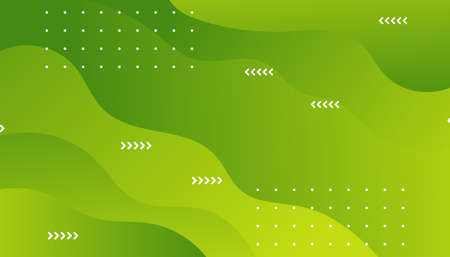 Green geometric background. Liquid color background design. Template for brochures, flyers, magazine, banners etc