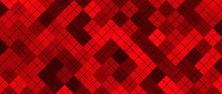 Red squares geometric background