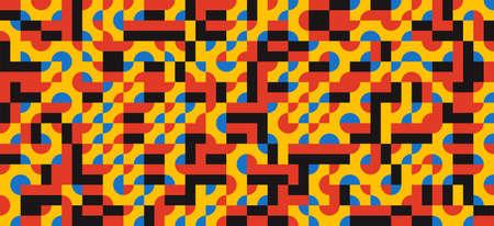 Geometry minimalist artwork poster. design for web banner, wallpaper, business presentation, fabric print. modern art scandinavian design style Иллюстрация