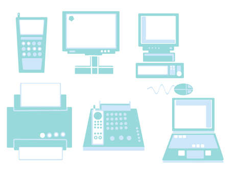 Set of 6 technology icon, can be used separately photo