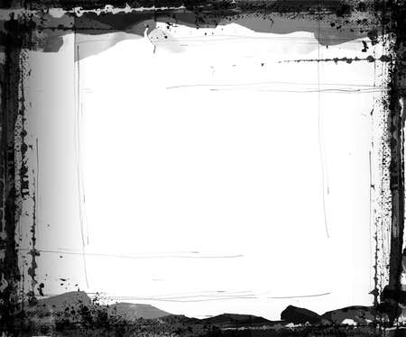 awful: Black and white trendy grunge border 01,high detail and resolution with textures, scratches etc