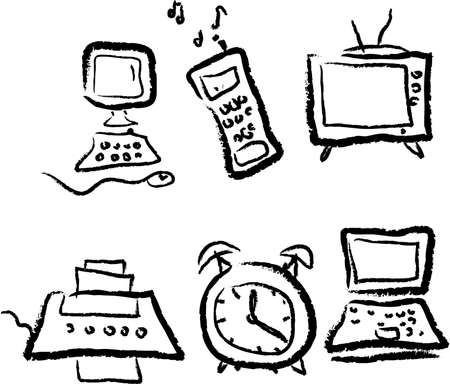 useful: Set of 6 useful technology icons