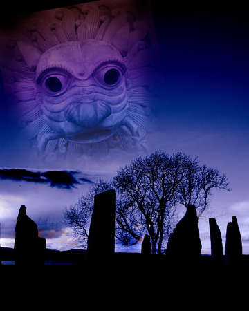 druid: The stone circle Stock Photo