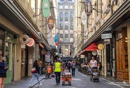 Degraves Street is a popular cafe and retail laneway between Flinders Street and Flinders Lane in Melbourne.