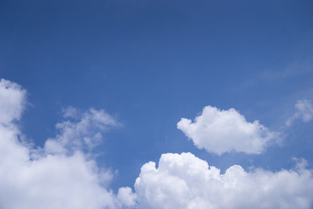 white cloud on blue sky with copy space