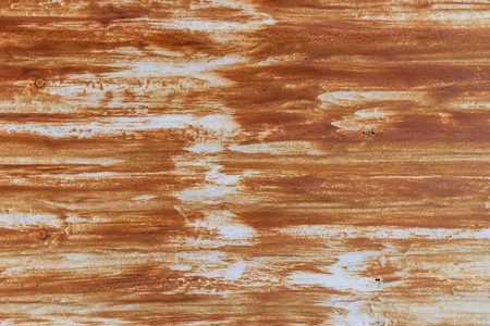 Rustic streaks stain on old metal wall for background